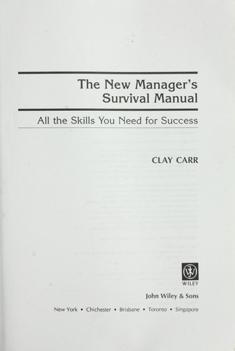 The New Manager's Survival Manual