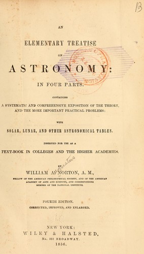 Download An elementary treatise on astronomy