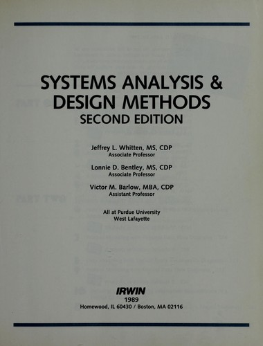 Download Systems analysis & design methods