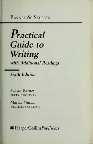 Barnet & Stubbs's practical guide to writing