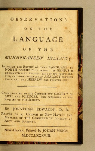 Download Observations on the language of the Muhhekaneew Indians