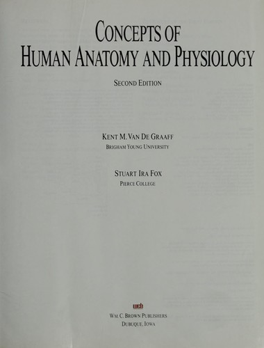 Concepts of human anatomy and physiology