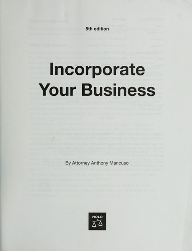 Download Incorporate your business