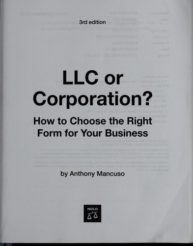 Download LLC or corporation?