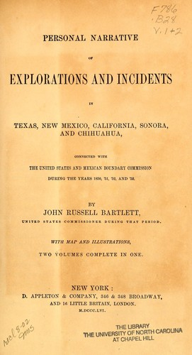 Download Personal narrative of explorations and incidents in Texas, New Mexico, California, Sonora, and Chihuahua