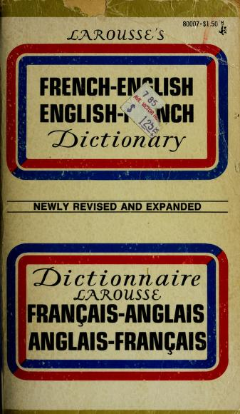 Cover of: French Eng Dict | Society encyclopedique un