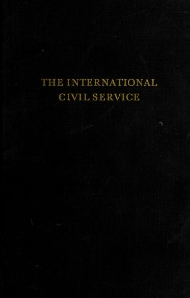 The international civil service by Georges Langrod