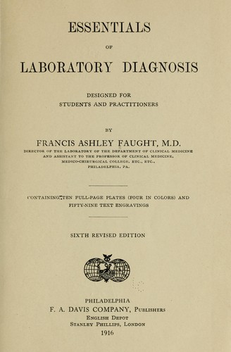 Essentials of laboratory diagnosis by Francis Ashley Faught