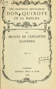 Adventures of Don Quixote de la Mancha by Miguel de Cervantes Saavedra