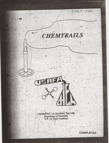 Chemtrails, chemistry 131 manual, fall 1990 by