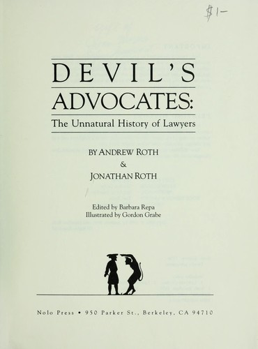Devil's advocates by Roth, Andrew
