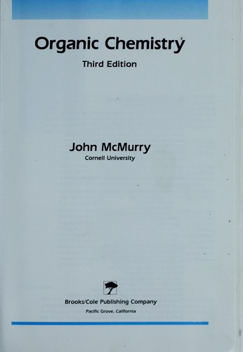 Organic chemistry by John McMurry